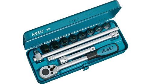 HAZET(ハゼット) ヘキサゴンソケットレンチセット 985 差込角:12.7mm 12点 1セット[cb]