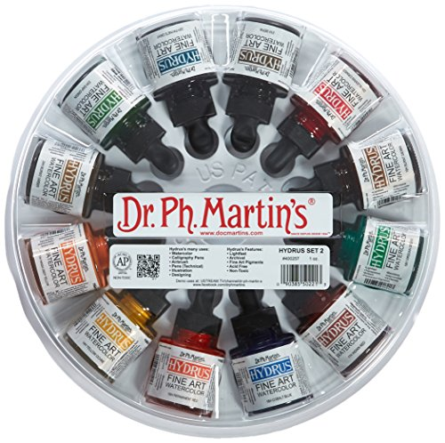 Dr. Ph. Martin's Hydrus Fine Art Watercolor, 1.0 oz, Set of 12 (Set 2)[cb]