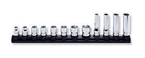 コーケン Z-EAL 3/8(9.5mm)SQ. 6角ソケット/ディープソケット混合レールセット 12ヶ組 RS3X00MZ/12[cb]