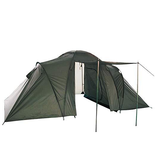 Mil-Tec テント 2人用x2 計4人用セット エントランス ひさし ストレージスペース付き OLIVE DRAB[cb]