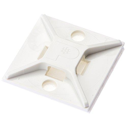 パンドウイット マウントベース アクリル系粘着テープ付き 白 500個入り ABM2S-AT-D[cb]