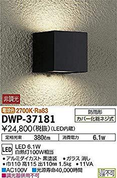 大光電機(DAIKO) LEDアウトドアライト (LED内蔵) LED 6.1W 電球色 2700K DWP-37181[cb]