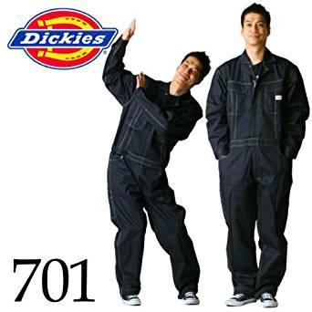 ディッキーズ Dickies (山田辰)オールシーズン用 ツヅキ服 701 ネイビーブルー LLサイズ[cb]