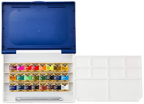 ホルベイン 固形水彩絵具 アーチストパンカラー 24色セット 樹脂ケース製 PN697 ハーフパン[cb]