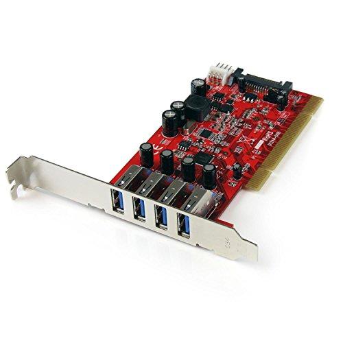 StarTech.com SuperSpeed USB 3.0 4ポート増設PCIカード SATA電源コネクタ搭載 最大900mAまでUSBバスパワー供給可能 PCIUSB3S4[cb]
