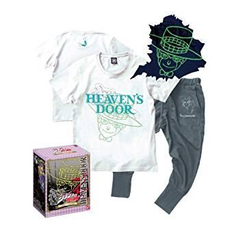 [ジョジョの奇妙な冒険]Tシャツ&スウェットパンツ ヘブンズドアー【Sサイズ】特製BOX入り[cb]