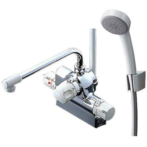 TOTO 浴室用水栓 台付き 定量止水 TMJ48E (エアインシャワー・樹脂)[cb]