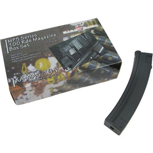 キングアームズ MP5 100連 マガジン Box セット - 5本入 KAMAG19V[cb]
