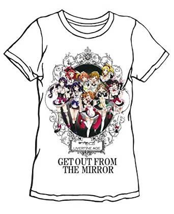 ラブライブ × LIVERTINE AGE ラブライブ Tシャツ MIRROR type ホワイト サイズ:L[cb]