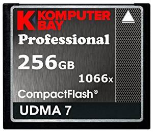 Komputerbay 256GB Compact Flash メモリカード 1066X CF 書く155MB/s, 読む160MB/s UDMA 7 RAW コンパクトフラッシュメモリカード[cb]