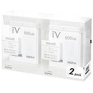 マクセル iVDR-S規格対応リムーバブル・ハードディスク 500GB×2個パック(ホワイト)maxell カセットハードディスク「iV(アイヴィ)」 M-VDRS500G.E.WH2P[cb]