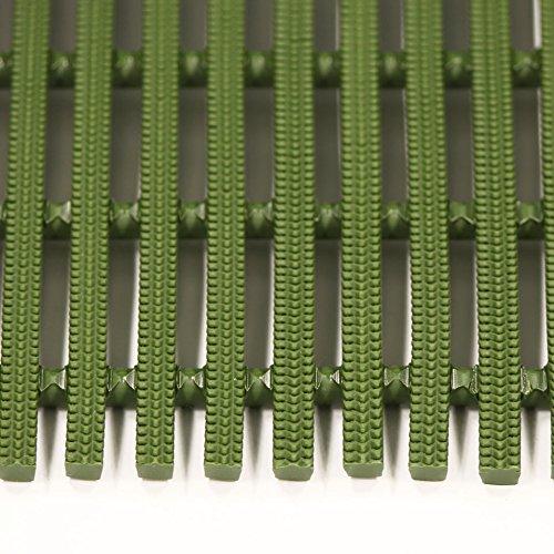 ミヅシマ工業 セーフティマット ハード ハードタイプ グリーン 4390211 910X6M[cb]