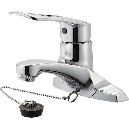 SANEI 節水・エコ シングル洗面混合栓 取付ピッチ102mm[cb]