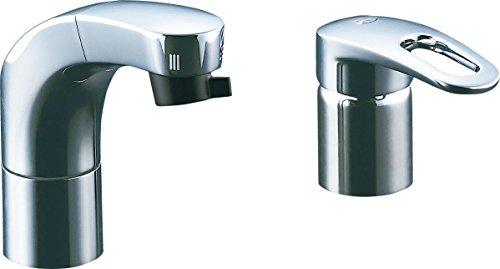LIXIL(リクシル) ホース引出式シングルレバー混合水栓 エコハンドル フルメッキタイプ エコハンドル 小型吐水切替機能 寒冷地仕様 RLF-682YN[cb]