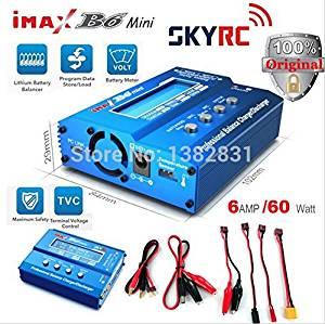 SKYRCオリジナルIMAX B6 RCヘリコプターカーおもちゃクワッドローターリポニッケル水素BatteryPower供給のためのミニデジタルバランス充電器(Blue)[cb]