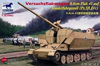 ブロンコモデル 1/35 ドイツ フラックワーゲンIVc型 8.8cmFlak41搭載高射自走砲 プラモデル CB35062[cb]