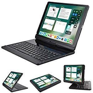 Lenrich iPad Pro 12.9 キーボードケース 360度回転可能 iPad Proケース ワイヤレスBluetoothキーボードスタンド付き iPad Pro 12.9インチカバー ブラック LBK224[cb]
