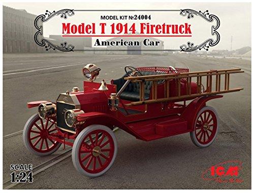 ICM 1/24 T型フォード 1914 消防車 プラモデル 24004[cb]