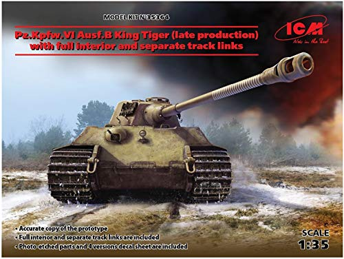 ICM 1/35 ドイツ陸軍 キングタイガー後期型 w/フルインテリア プラモデル 35364[cb]