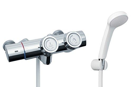 LIXIL(リクシル) INAX 浴室用 サーモスタット付シャワーバス水栓 エコフルシャワー プッシュ操作 洗い場専用 RBF-815[cb]