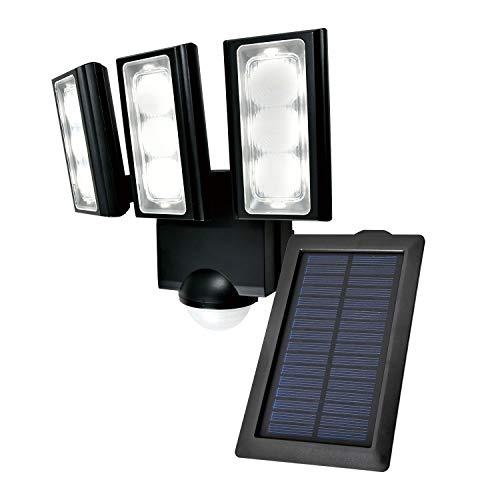 ELPA エルパ ソーラー式 センサーライト 3灯 安心の防水仕様 広範囲照射可能 フラッシュ・赤点滅機能搭載 太陽光だから省エネ 電気代不要 ESL-313SL[cb]