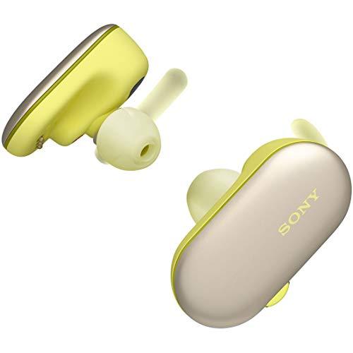 ソニー SONY 完全ワイヤレスイヤホン WF-SP900 : Bluetooth対応 左右分離型 防滴 防塵 4GBメモリ内蔵 2018年モデル イエロー WF-SP900 YM[cb]