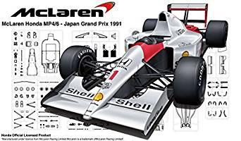 フジミ模型 1/20 グランプリシリーズ No.25EX-1 マクラーレン・ホンダ MP4/6 1991年(ブラジルGP/サンマリノGP/日本GP) (日本GP 純正エッチング付き)[cb]