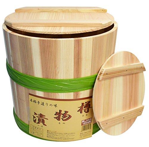 木製 漬物樽 18L プラたが