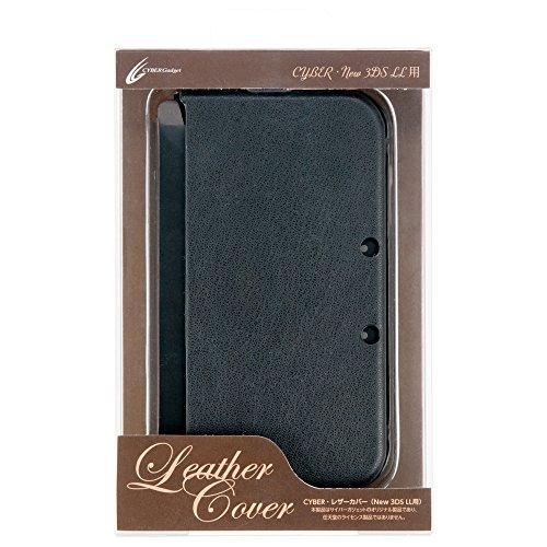 CYBER レザーカバー New LL用 3DS ブラック ストア 日本メーカー新品