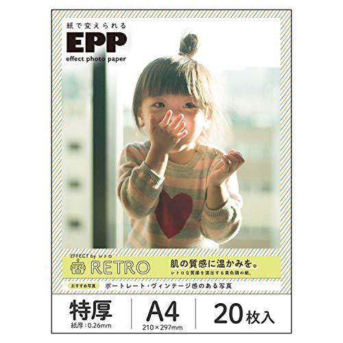 エレコム 写真用紙 A4 20枚 新着 価格交渉OK送料無料 EJK-EFRTA420 エフェクトフォトペーパー レトロ