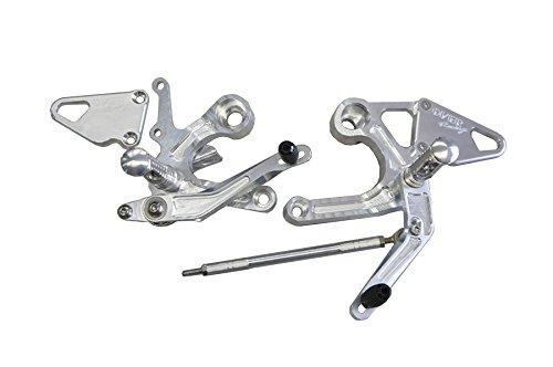 オーヴァーレーシング(OVERRACING) バックステップ アルミニウム シルバー MT-09(ABS車対応)/MT-09 TRACER/XSR900 51-45-01