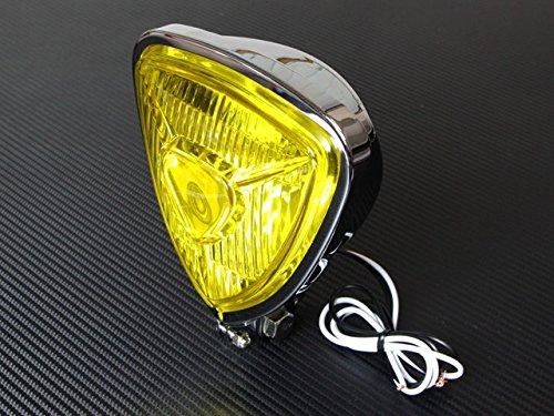 トライアングル ヘッドライト 薄型タイプ イエローレンズ仕様 モンキー エイプ リトルカブ マグナ50 ジョーカー スティード シャドウ FTR223 G...