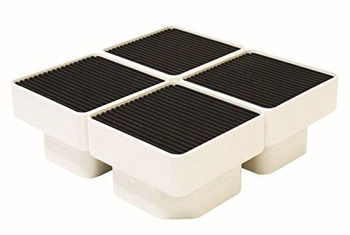 イージースタンド 寸法:W157×D157×H105(mm)色:アイボリーホワイト 材質:PP樹脂/防振ゴムシート付