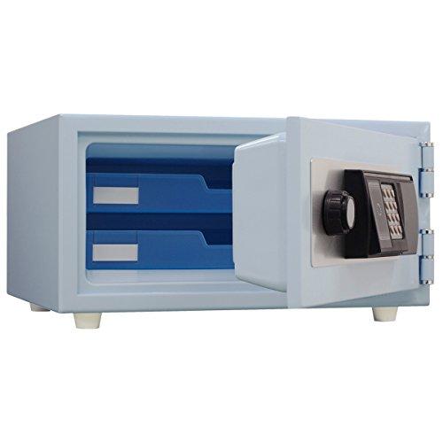 日本アイエスケイ(King CROWN) ICカード式 耐火金庫(JIS一般紙用1時間標準加熱試験合格) スカイブルー CPS-30IC SB