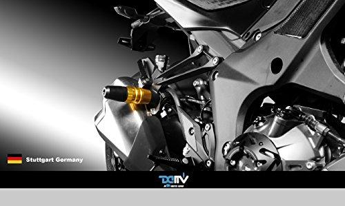 Dimotiv DMV マフラースライダー(Exhaust Slider)ブラック-Z1000 14-15 Z1000SX (NINJA 1000) 14-15 DI-ES-KA-04-K