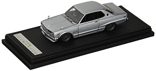 イグニッションモデル 1/43 ニッサン スカイライン 2000 GT-X (KGC10) シルバー ワタナベホイール IG0376