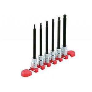 KTC(ケーテーシー) 9.5mm (3/8インチ) ロングボールポイント ヘキサゴン ビットソケット セット 6個組 TBT3L06BPH