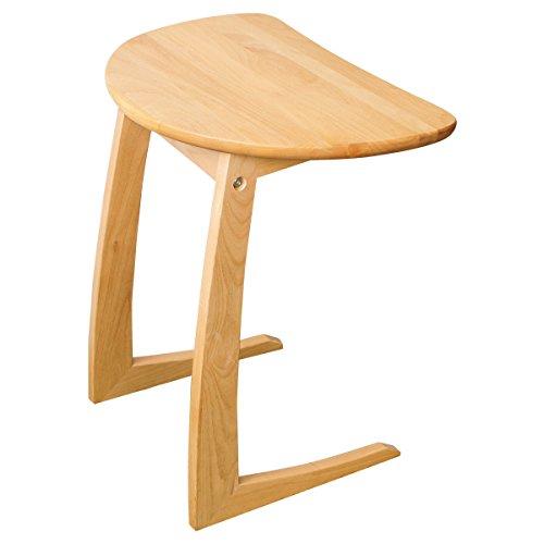 クーパーFS サイドテーブル ナイトテーブル 半円テーブル 木製 アルダー無垢 幅45cm ナチュラル -