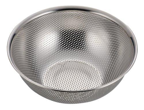 パール金属 アクアシャイン ステンレス製 パンチ ボール型 ザル 24cm H-9132:ユニオン