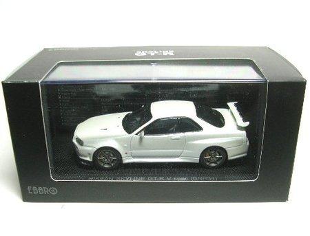 EBBRO 1/43 ニッサン スカイライン GT-R R34 VスペックII ホワイト