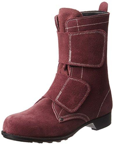 [ドンケル] 安全靴 ブーツ 耐熱 溶接 高炉 旋盤前等 JIS T8101革製S種合格品(V式) T-6ベロア ブラウン ブラウン 27.5