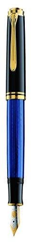 ペリカン 万年筆 EF 極細字 ブルー縞 スーベレーン M800 正規輸入品