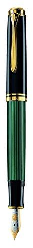 ペリカン 万年筆 M 中字 緑縞 スーベレーン M600 正規輸入品