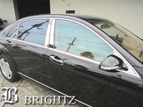 BRIGHTZ Sクラス W221 超鏡面ステンレスメッキピラーパネル 無用 8PC S350 ブルーエフィシェンシー グランドエディション S550 ロング デジーノリミテッド S63 AMG ハイブリッド 4マチック S63 AMGロング S600 S65 スポーツエディション S500 6133