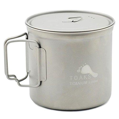 TOAKS (トークス) チタニウム ポット 900ml ショートハンドル 収納袋付き POT-900-D115 【日本正規品】