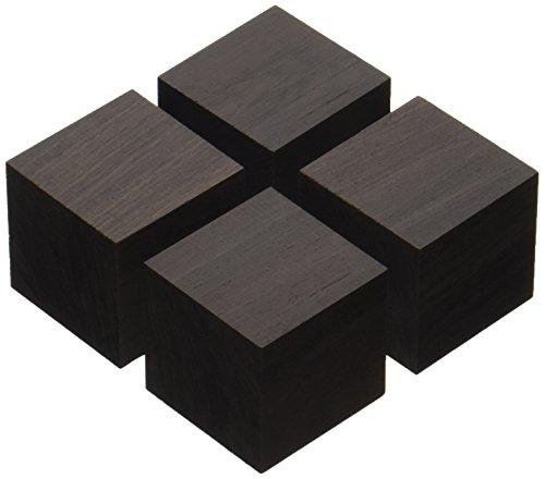 山本音響工芸 キューブベースアフリカ黒檀製(4個1組) QB-4QB-4