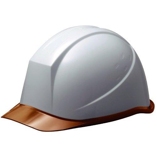 ミドリ安全 ヘルメット クリアバイザー SC11PCL RA KP付 ホワイト/ブラウン