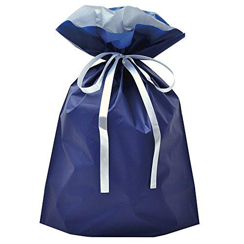 タカ印 巾着袋 ネイビー 50-3560 大サイズ 50枚