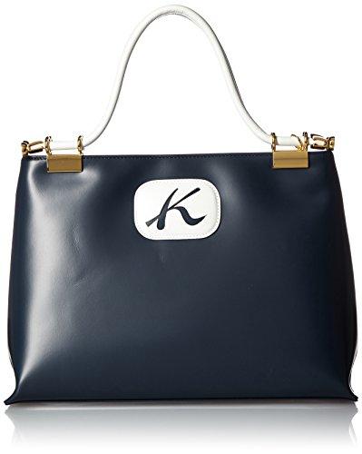 [キタムラ] Kitamura ハンドバッグ R-0610 10902 (ダークブルー/パールホワイト)