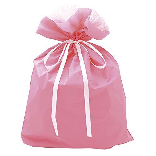 タカ印 巾着袋 50-3662 ピンク 特大サイズ 50枚